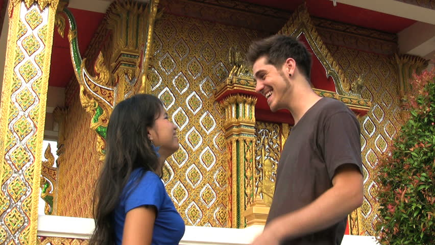 Thai girl with farang guy